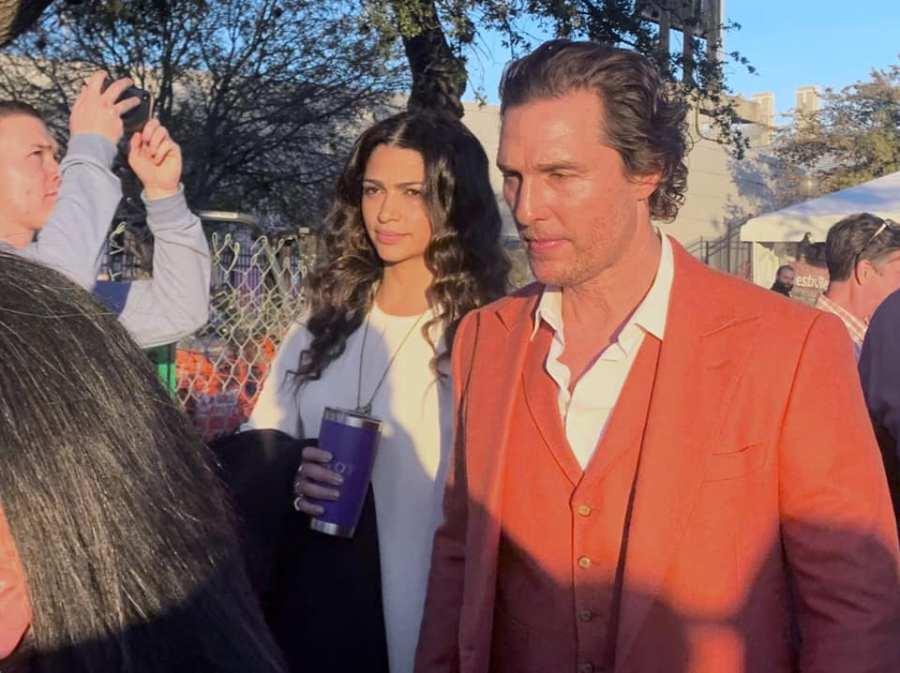 Matthew McConaughey at groundbreaking