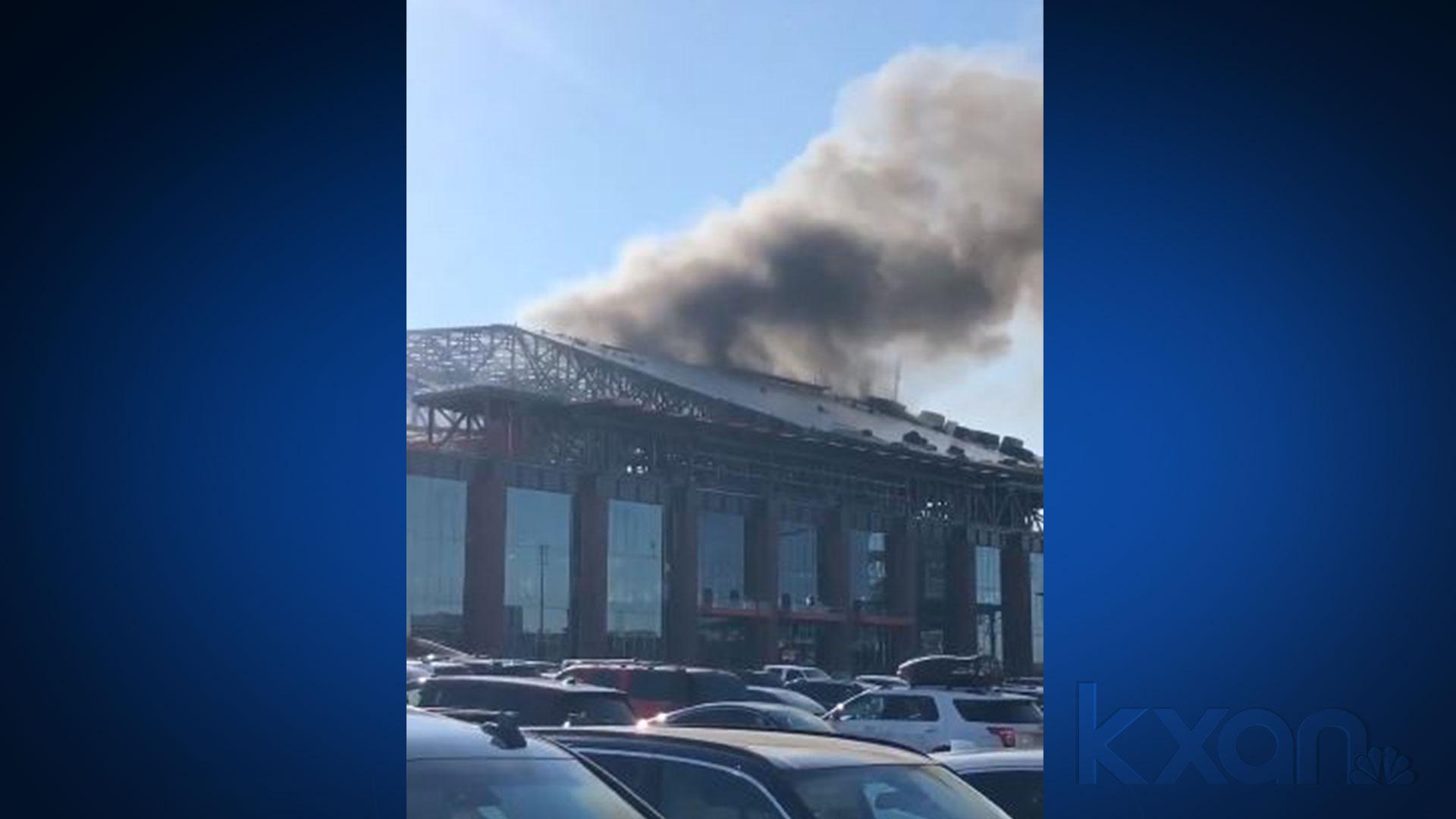 New Rangers ballpark fire