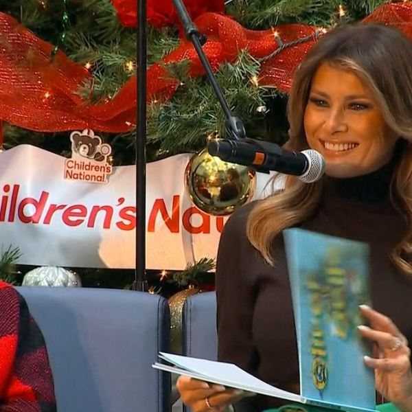 melania reading christmas book