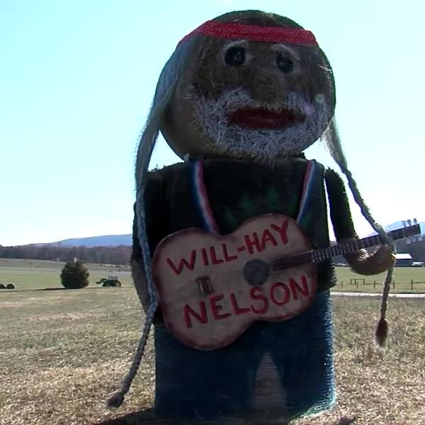 willie nelson hay sculpture