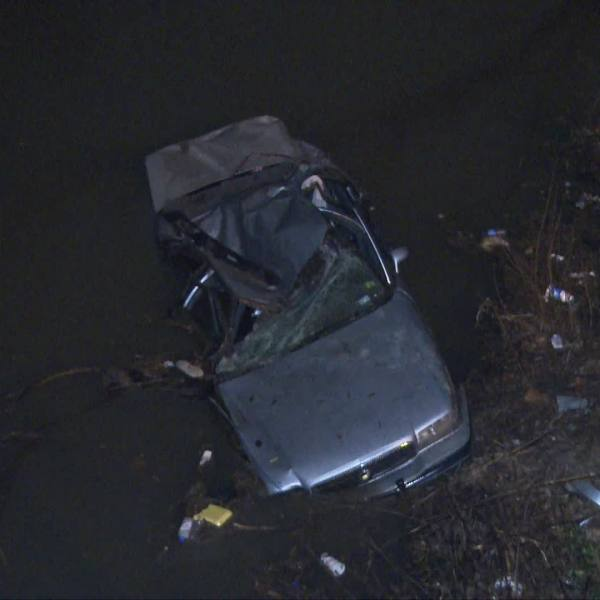 Austin police recovered a vehicle submerged in a creek in east Austin that was believed to have been stolen.