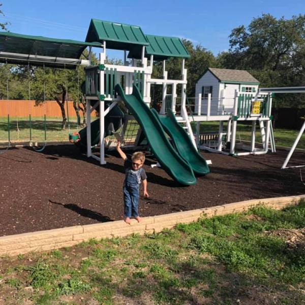 The Costa family playscape is at the center of a lawsuit (Courtesy Kim Costa)