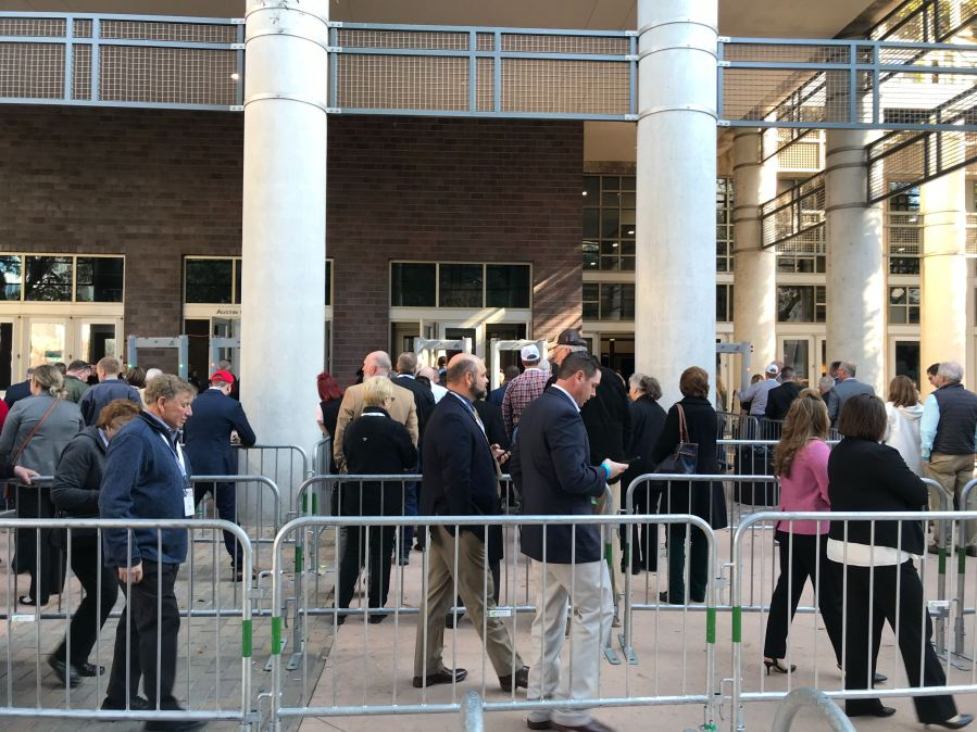 Lines for President Trump at Convention Center 1-19-20