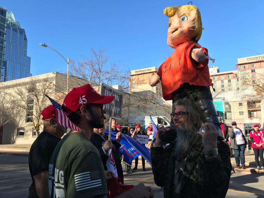Trump protesters 1-19-20