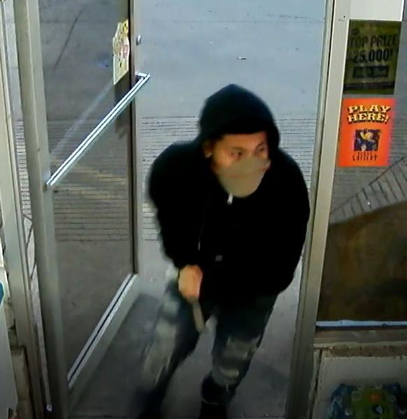 Marble Falls police are searching for a suspect who robbed the LBJ Food Mart on Friday morning, January 3, 2020. (Marble Falls Police Department photo)