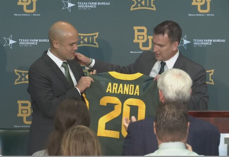 Dave Aranda introduced at Baylor