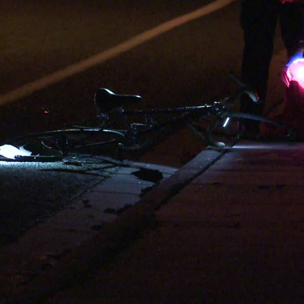 A cyclist was hurt after a hit-and-run near St. Edward's University Jan. 20, 2020 (Metro Video Services Photo)