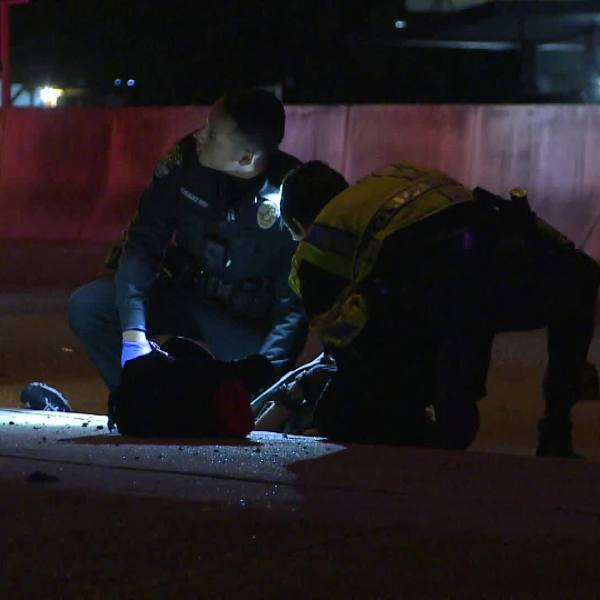 A cyclist was hurt after collision on U.S. Highway 290 frontage road Jan. 20, 2020 (Metro Video Services Photo)