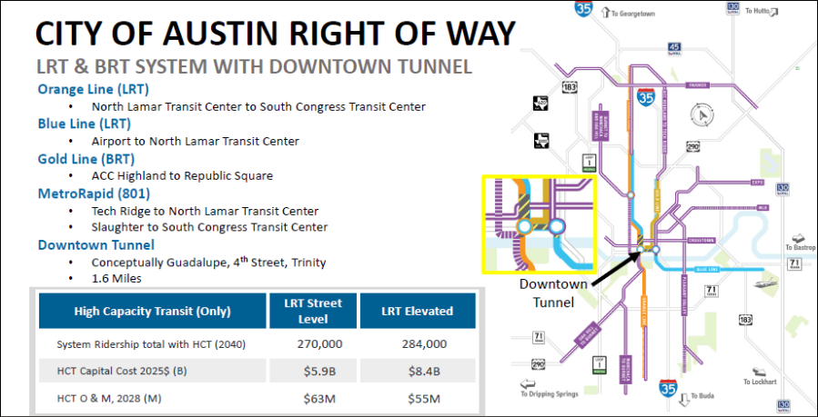 Proposed plans for light rail throughout Austin from CapMetro. The agency and city officials met today to discuss the plans. Courtesy of CapMetro