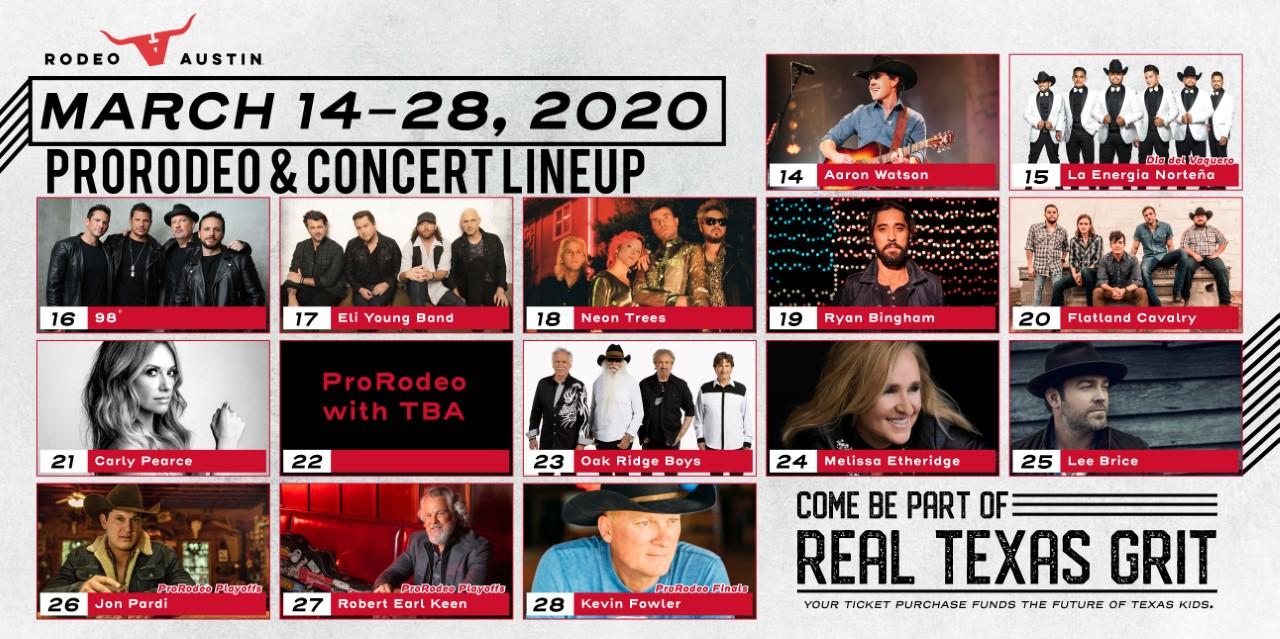 Rodeo Austin 2020 line up