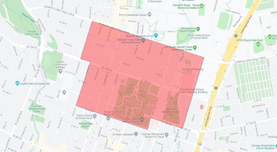 image of downtown Austin outage 11620
