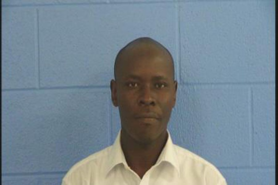 """Peter Wafula was tried in October 2019. A jury found him """"not guilty."""" (Source: Parmer County Jail)"""