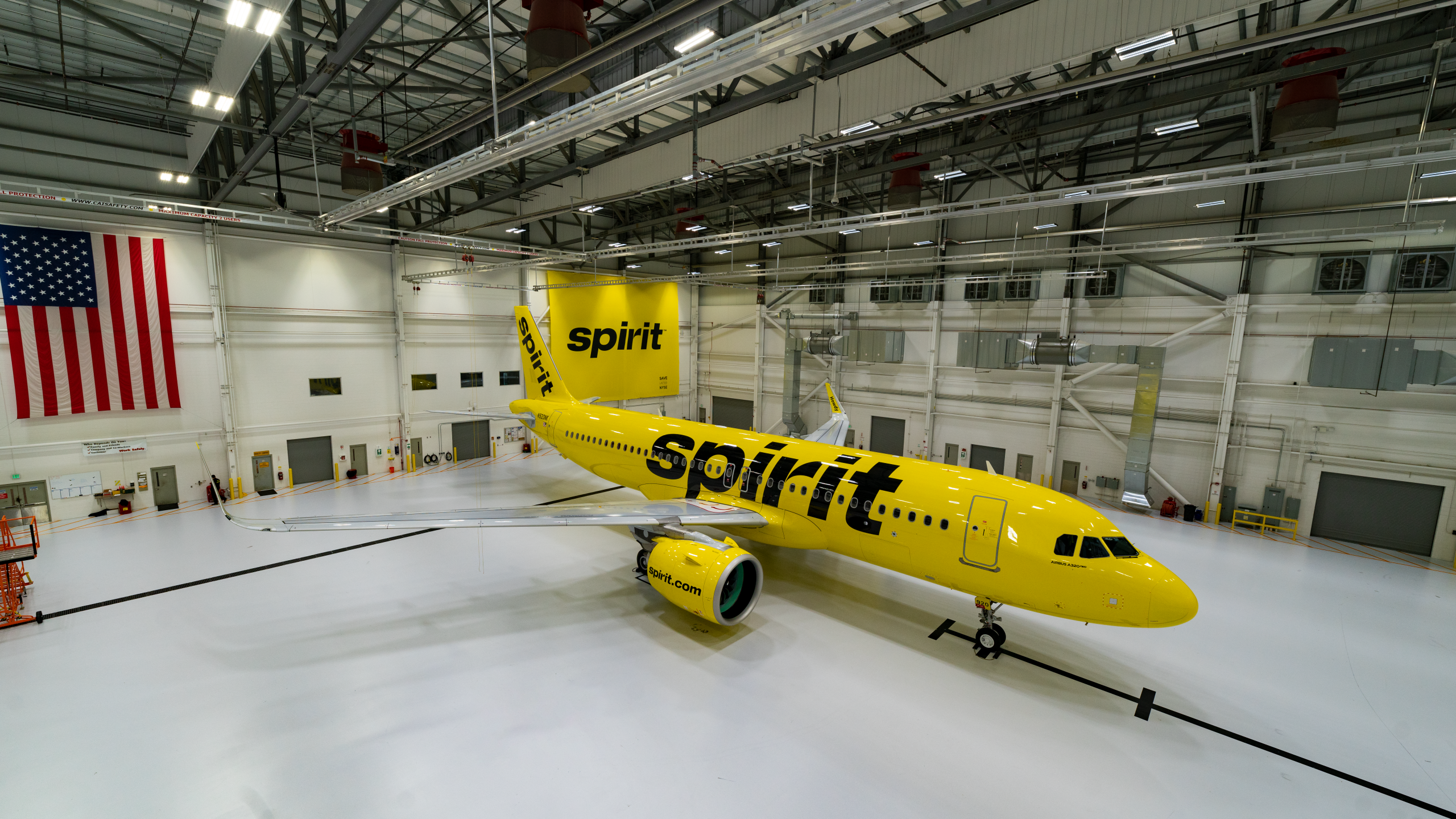 NEW Spirit Airlines Plane