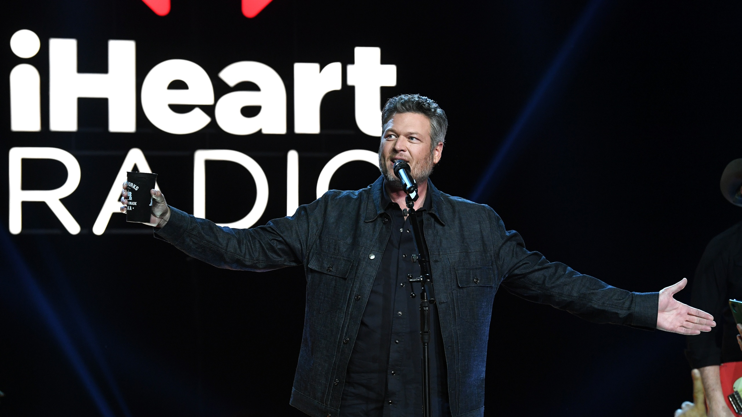 BURBANK, CALIFORNIA - DECEMBER 12: Blake Shelton performs live on stage at iHeartCountry Album Release Party with Blake Shelton at iHeartRadio Theater on December 12, 2019 in Burbank, California. (Photo by Kevin Winter/Getty Images for iHeart)