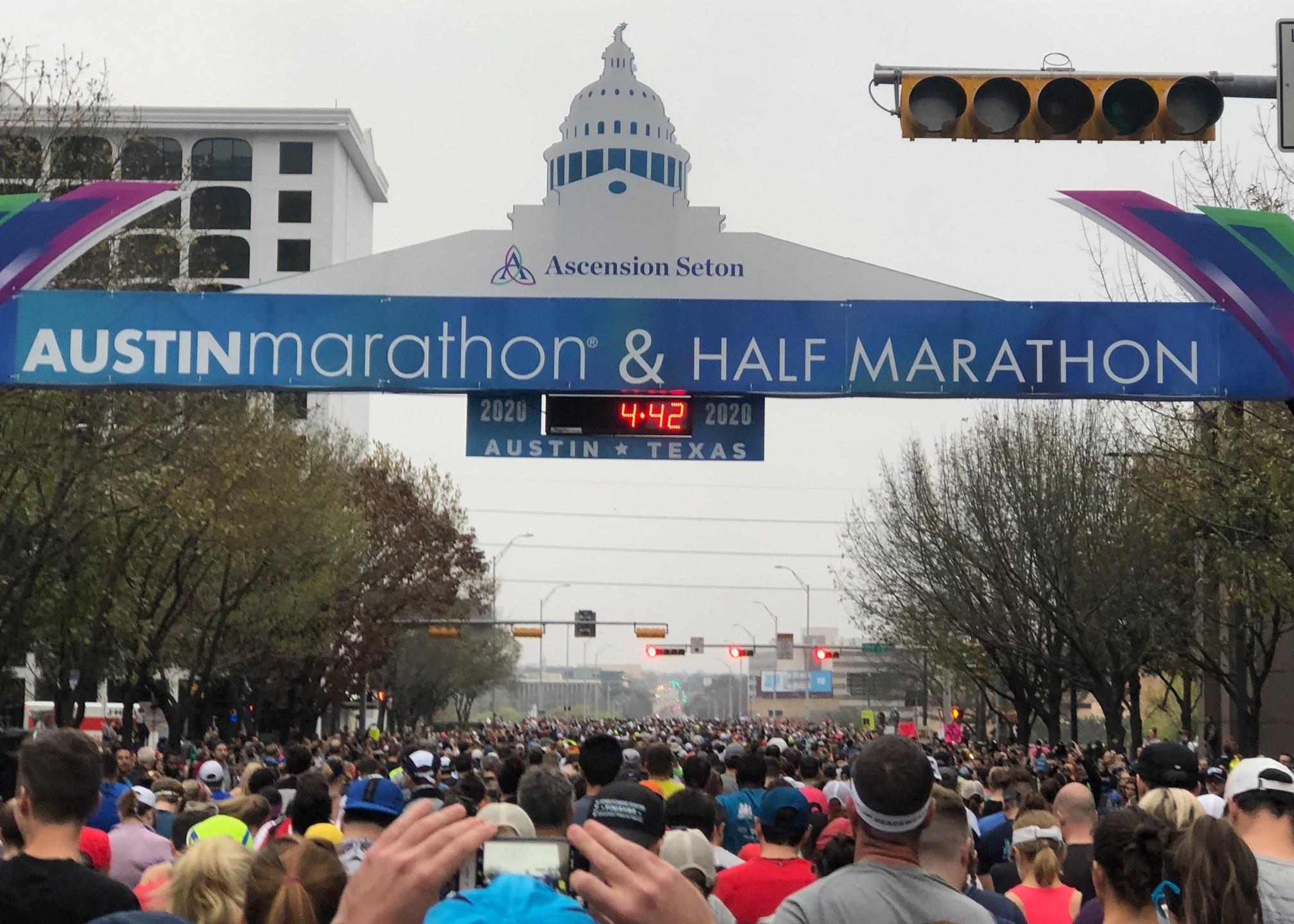 Austin Marathon sign