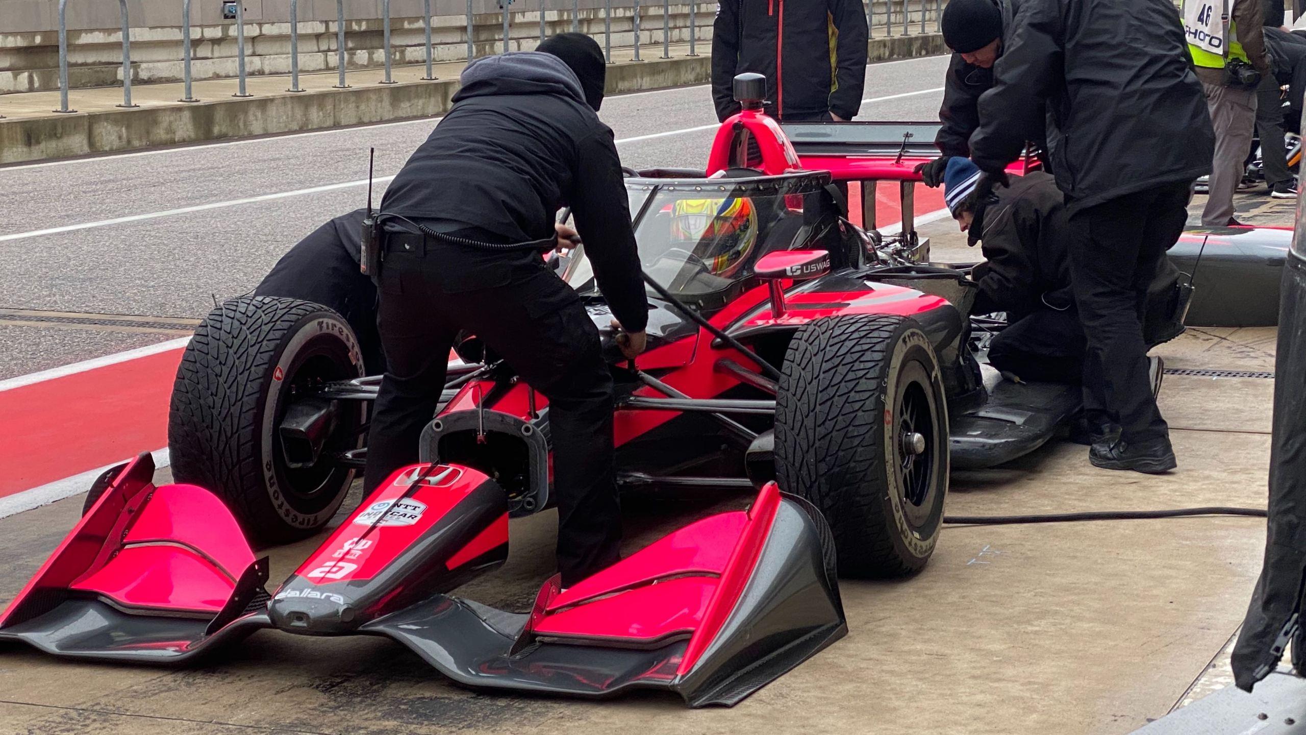 IndyCar testing at COTA