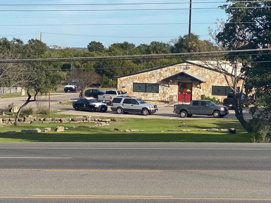 DPS vehicles were outside Grumpy's Saloon in Lakeway Feb. 7, 2020 (KXAN Photo/Kaitlyn Karmout)
