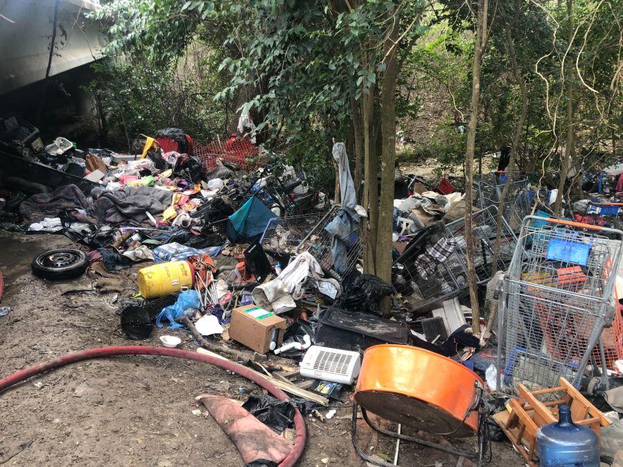 homeless encampment fire 7