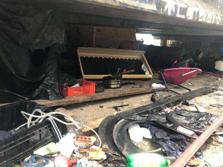 homeless encampment fire 8