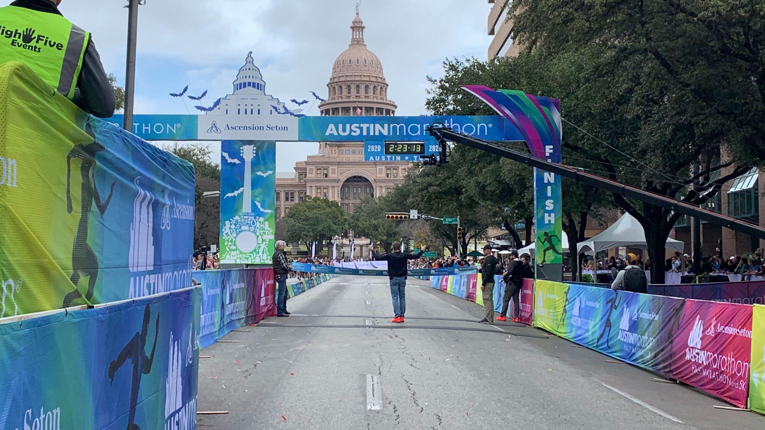 Austin Marathon finish line