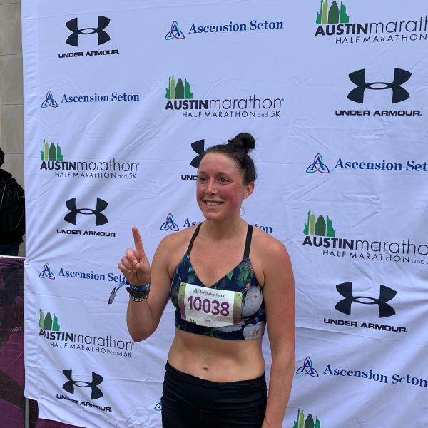 Allie Kiefer Austin Half Marathon