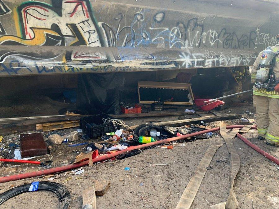 homeless encampment fire 2