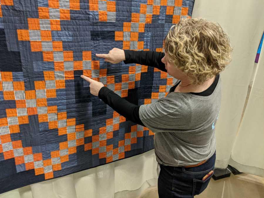 karen cooper showing quilt