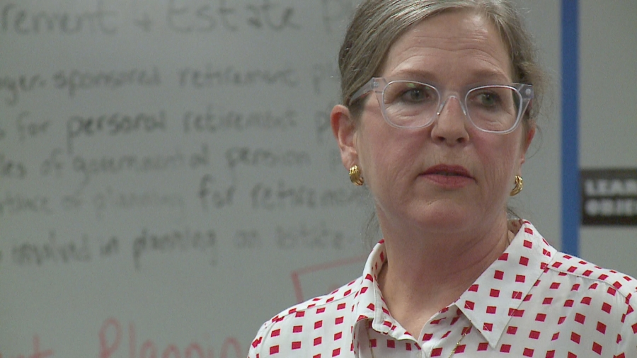 Micki Eubanks teaches at Stony Point High School (KXAN Photo/Andrew Choat)