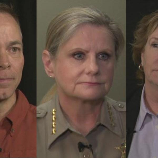 Travis County Sheriff candidates John Loughran, Sally Hernandez and Liz Donegan (KXAN Photo)