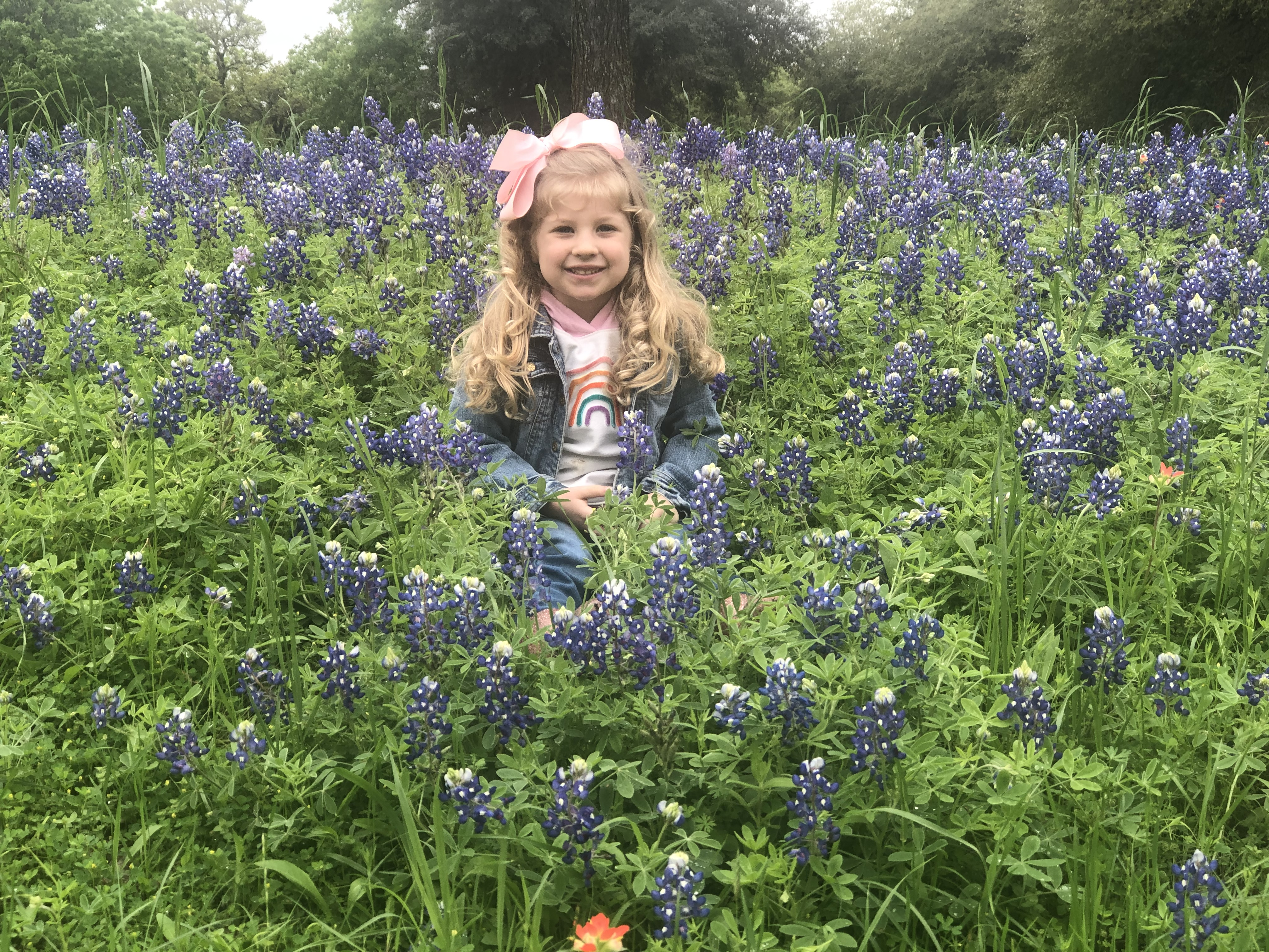 My daughter Gracie Jo in our front yard bluebonnet patch (Courtesy Sonya Pastuch)