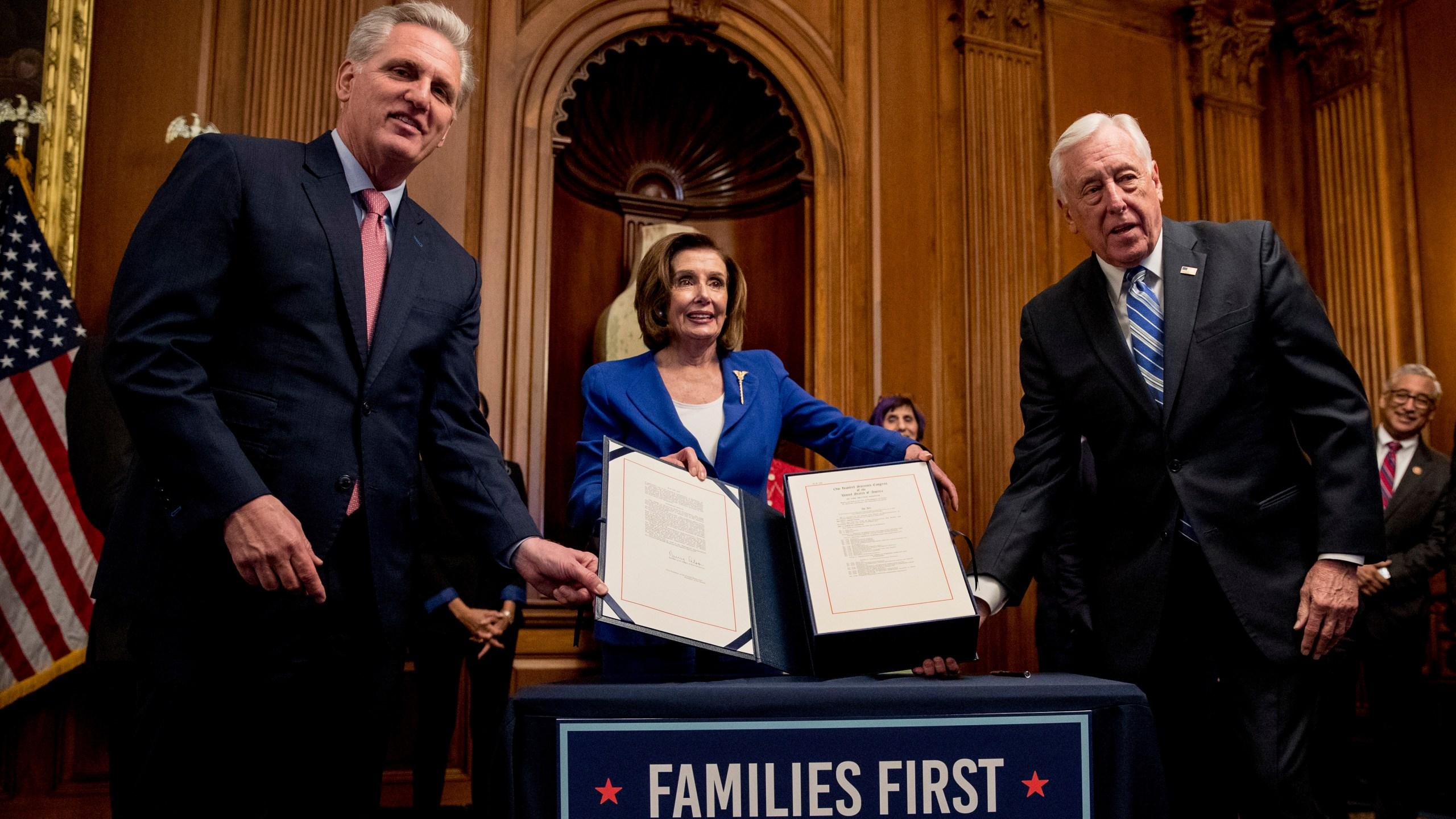Nancy Pelosi, Kevin McCarthy, Steny Hoyer