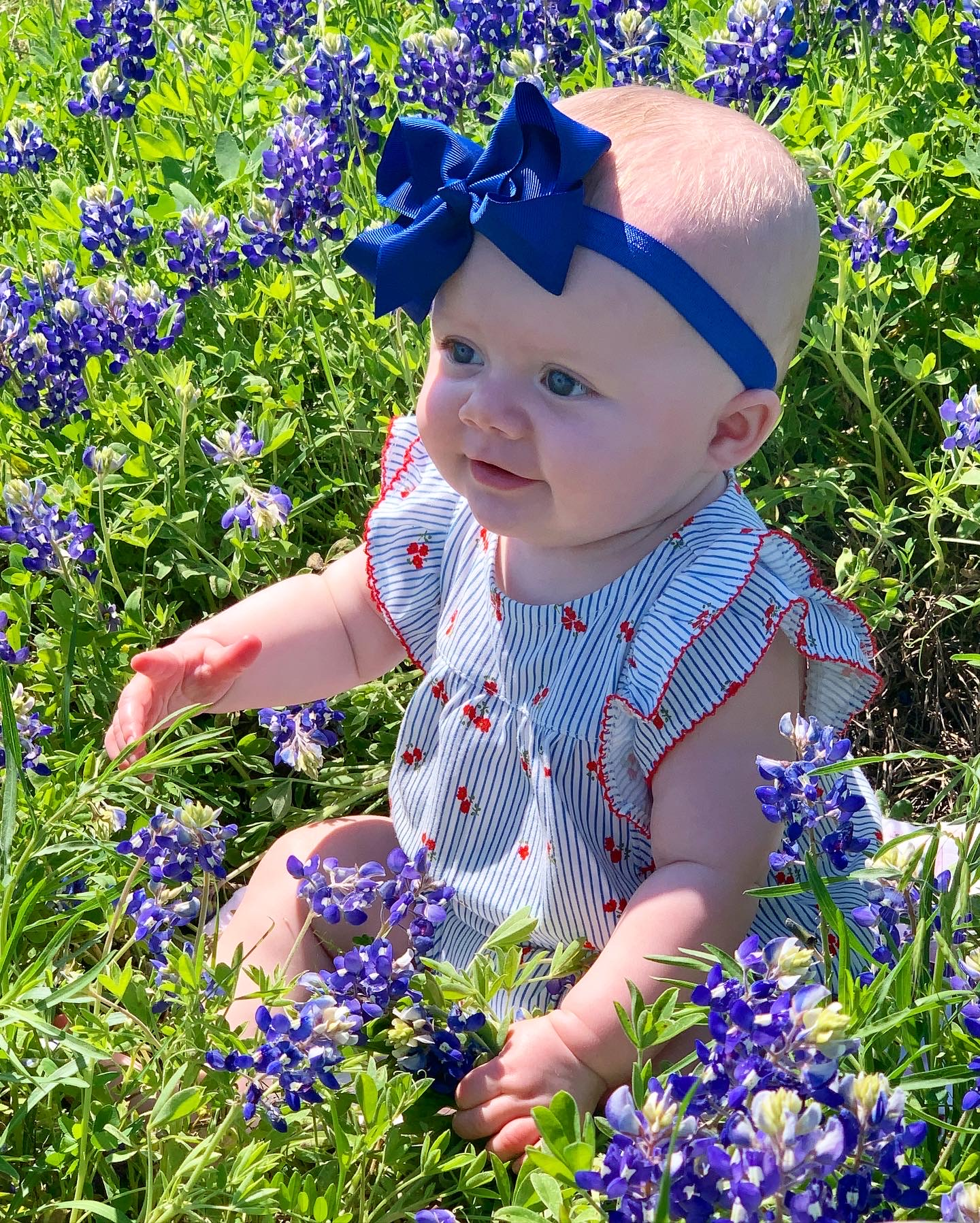 Bluebonnet picture of baby McKenlie (Courtesy Kimberlie Williams)