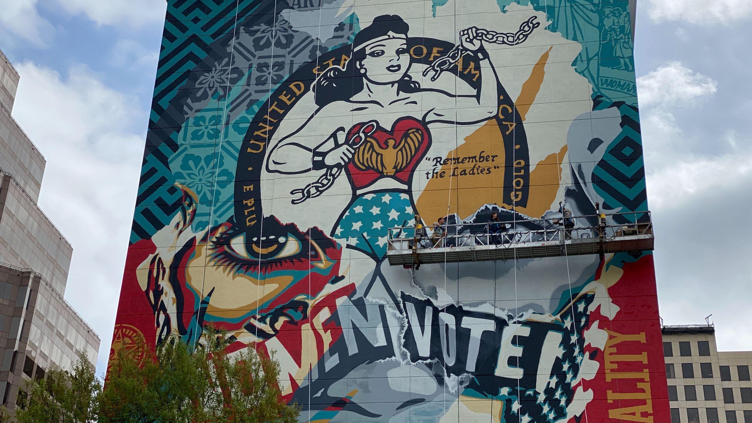 Women's Day mural Austin