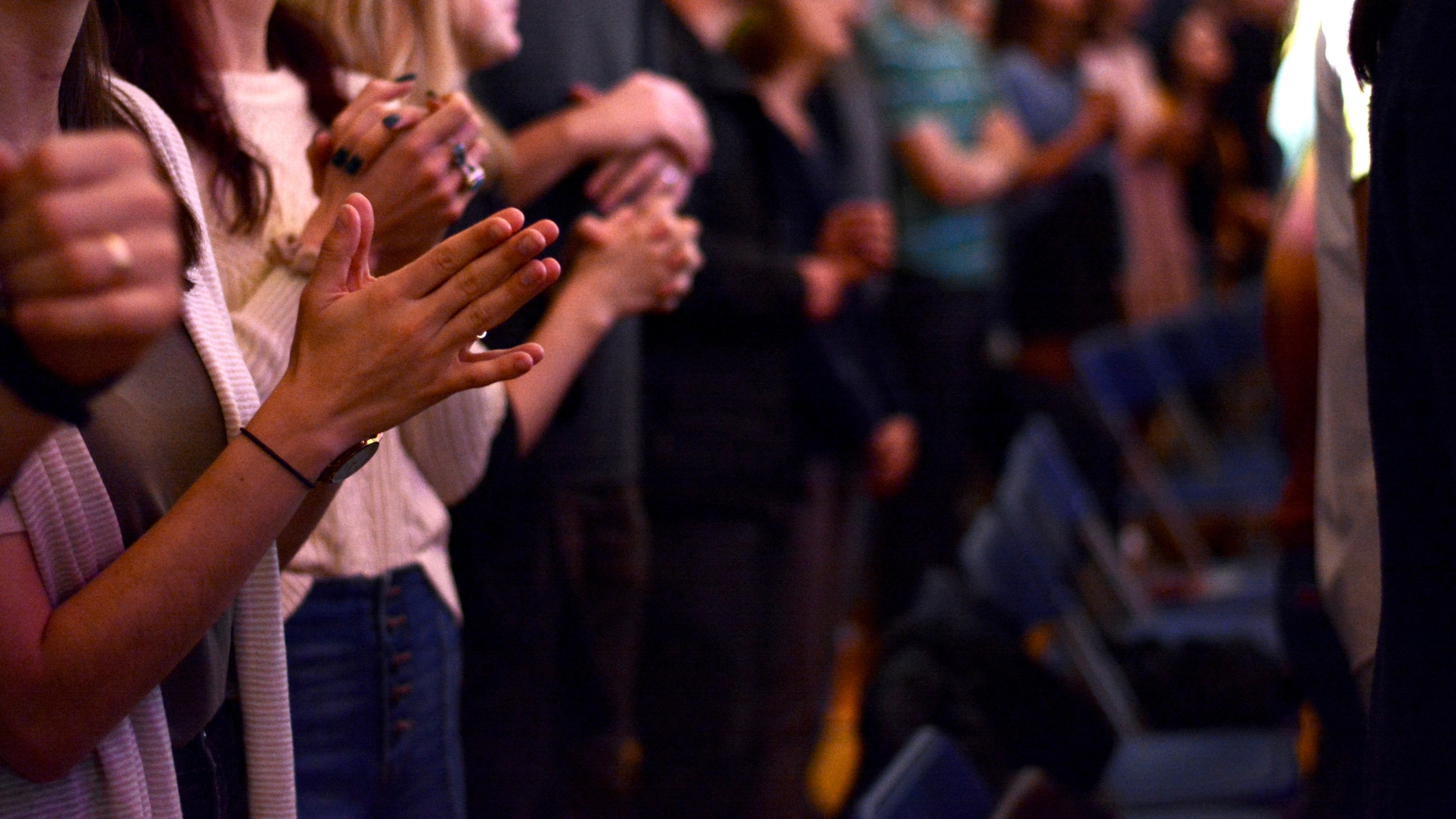 praying and worship and church