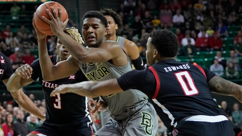 Baylor's sophomore guard, Jared Butler played well, as he had a solid all-around game in his team's overtime win over Texas Tech.  (Photo: Chuck Burton/The Associated Press, via KXAN-TV.)