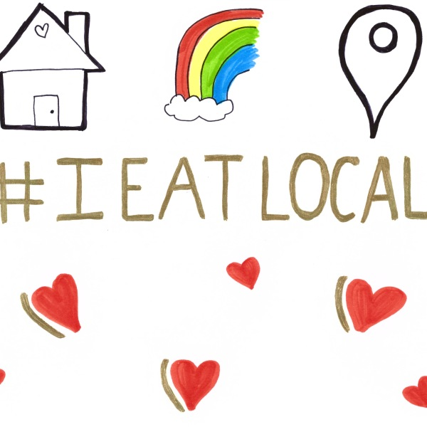 Silicon Labs CEO Tyson Tuttle's daughter designs #ieatlocal flyer.