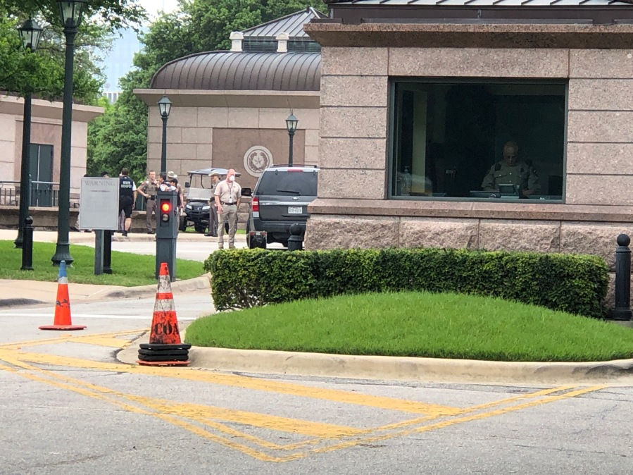 A body was found near the Texas Workforce Commission April 6, 2020 (KXAN Photo/Frank Martinez)