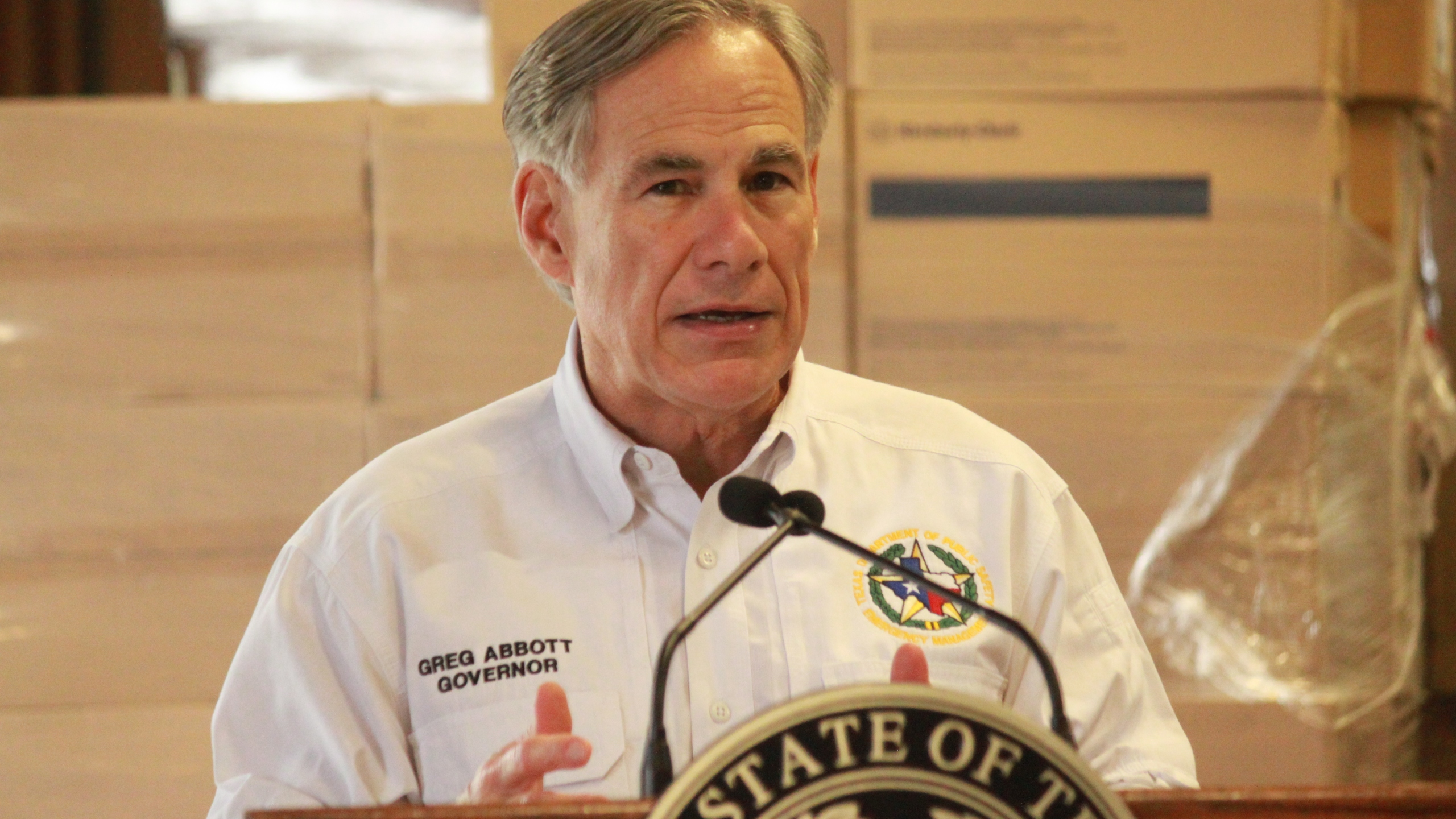 Texas Governor Greg Abbott PPE press conference