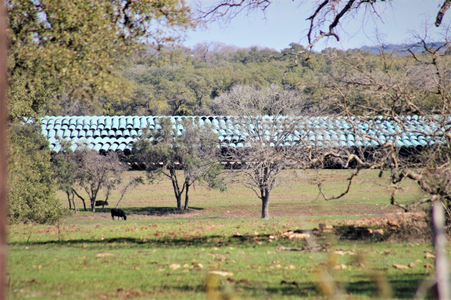 This Blanco County stock yard is one of five Kinder Morgan storage sites spread across Texas. (KXAN Photo/Jody Barr)