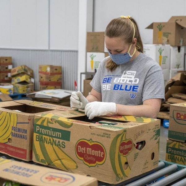 Kelly Hoover has volunteered over 100 hours at the Central Texas Food Bank. (Source: Central Texas Food Bank)