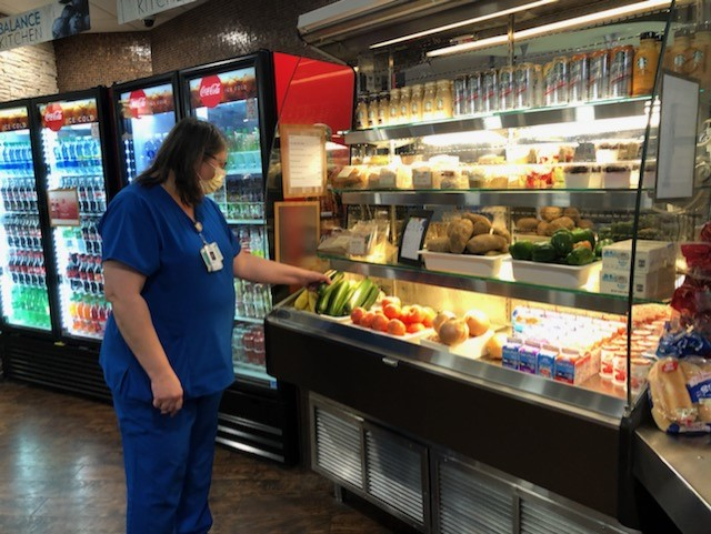 hospital food pantry and worker 2