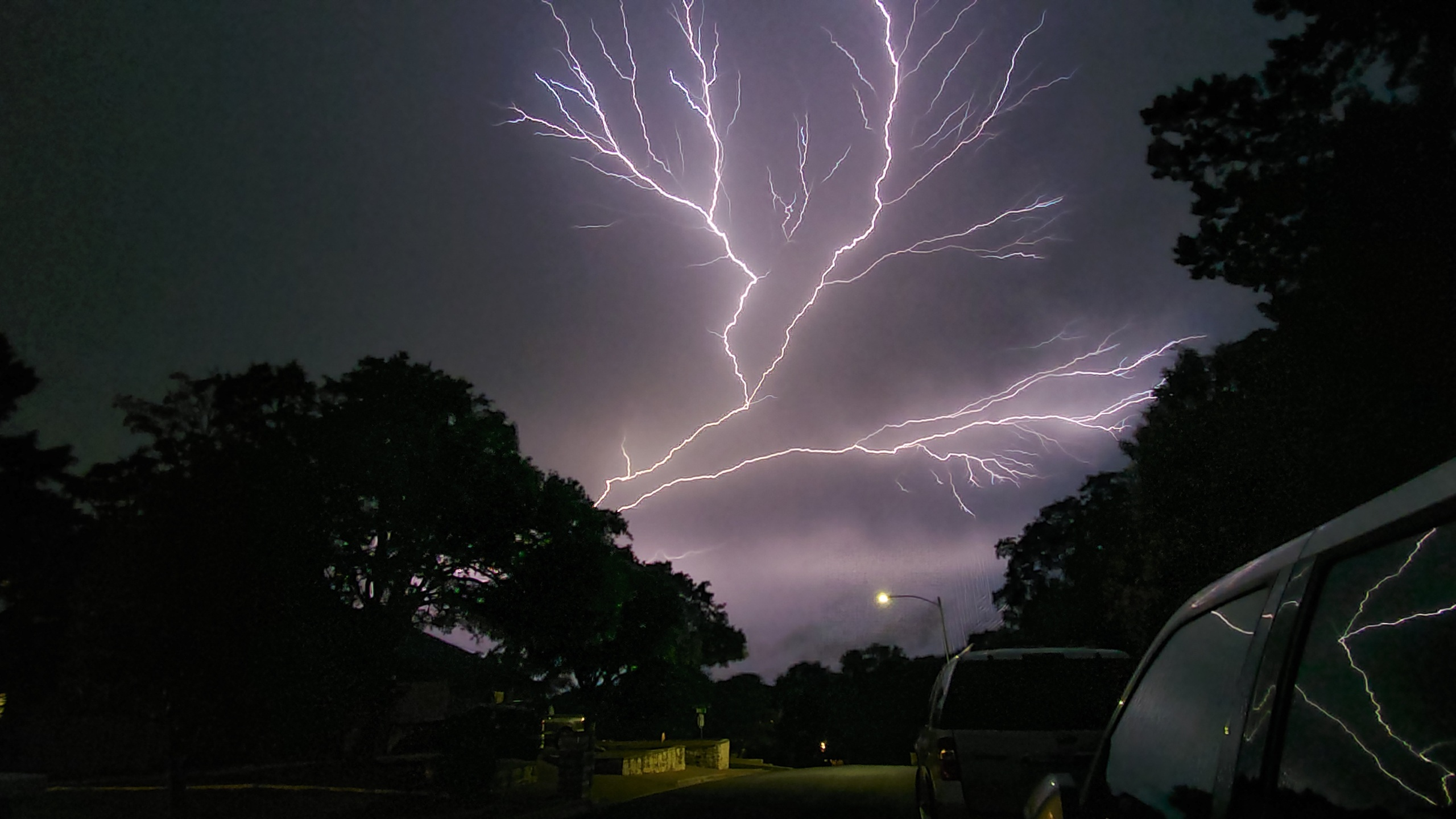 Lightning during severe storms Austin 5-24-20