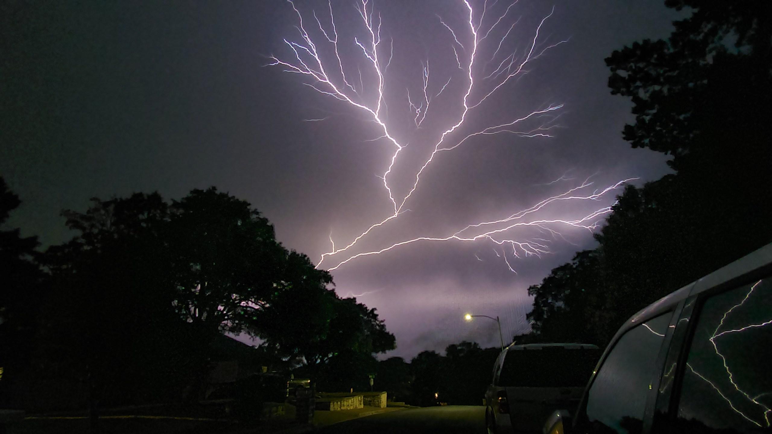 Lightning during severe storms Austin 5-24-20