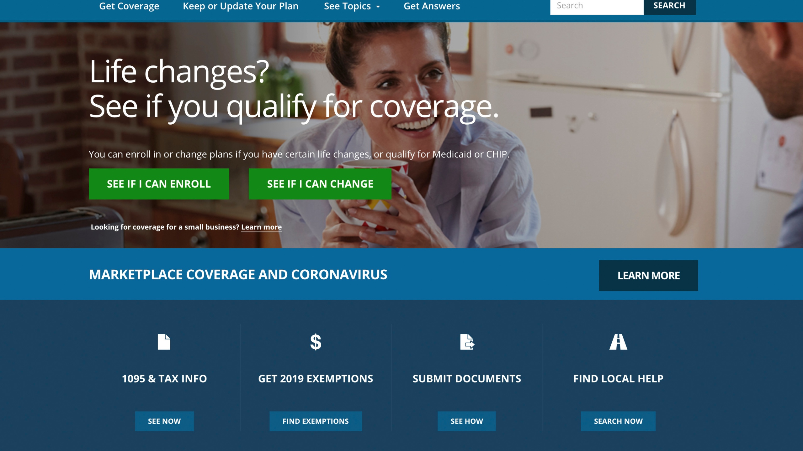 FILE - This file image provided by U.S. Centers for Medicare & Medicaid Service shows the website for HealthCare.gov. Many laid-off workers who lost health insurance in the coronavirus shutdown soon face the first deadlines to qualify for fallback coverage under the Affordable Care Act. (U.S. Centers for Medicare & Medicaid Service via AP, File)