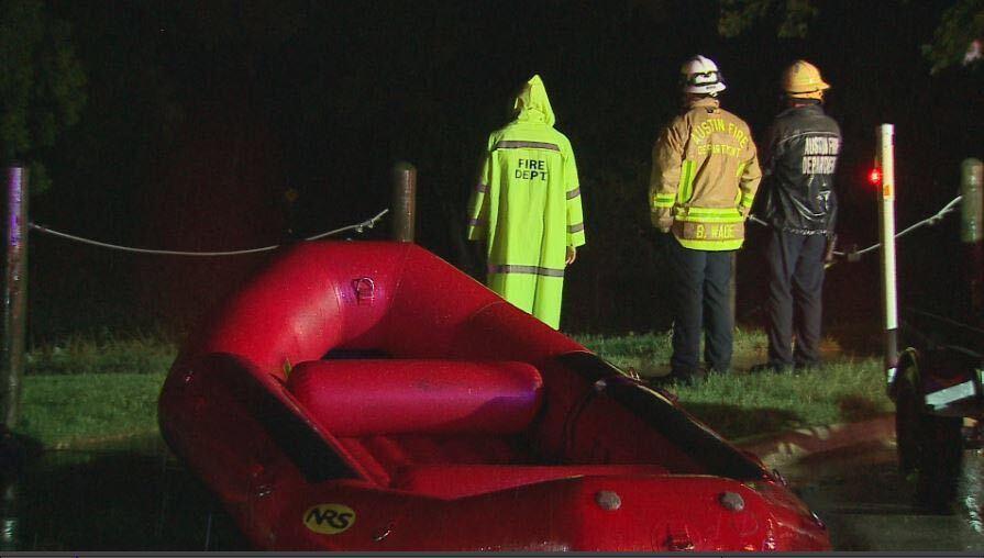 Crews rescue fishermen caught in high water