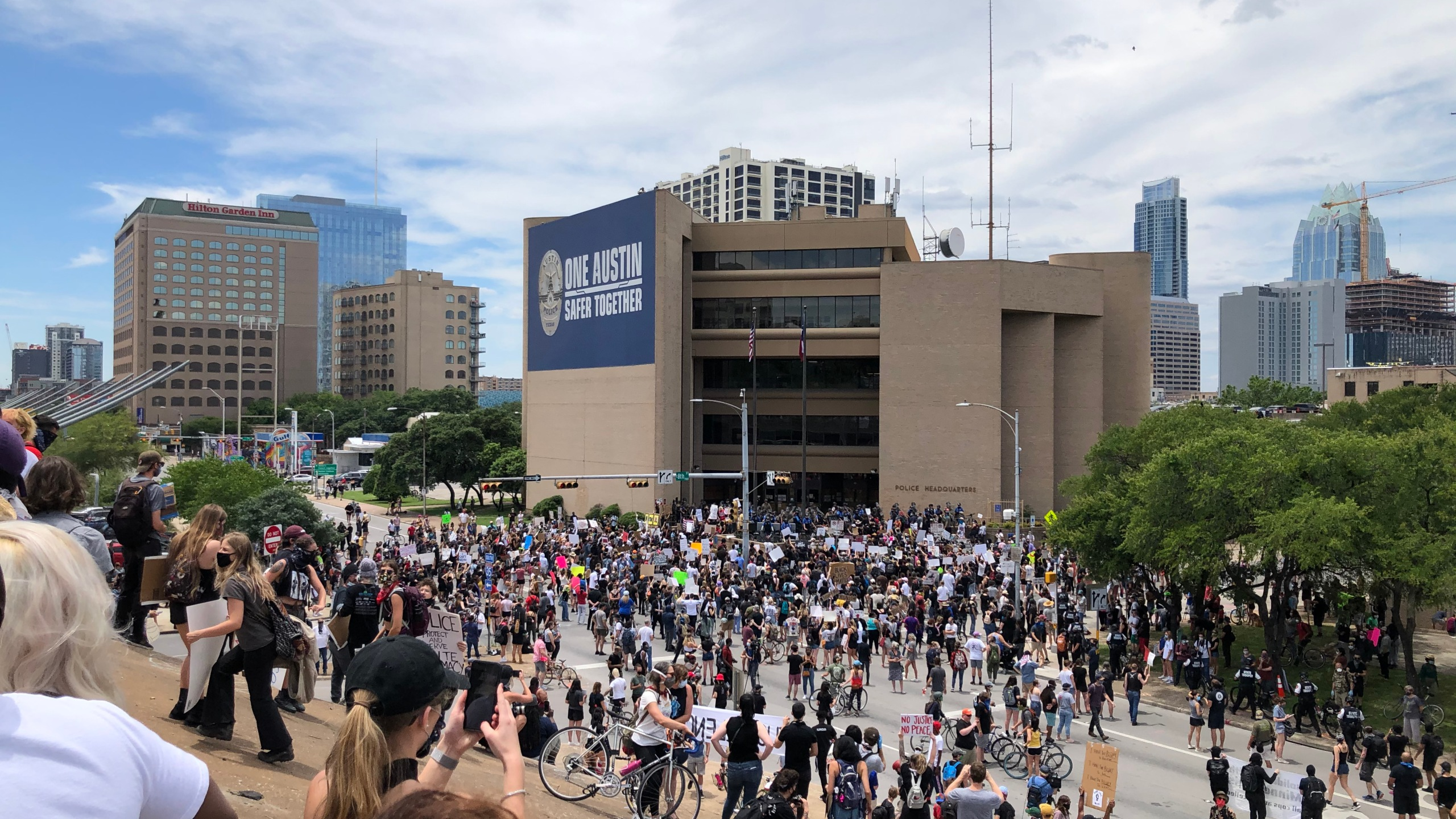 May 30, 2020 protest near APD Headquarters (Photo: George Vance McGee)