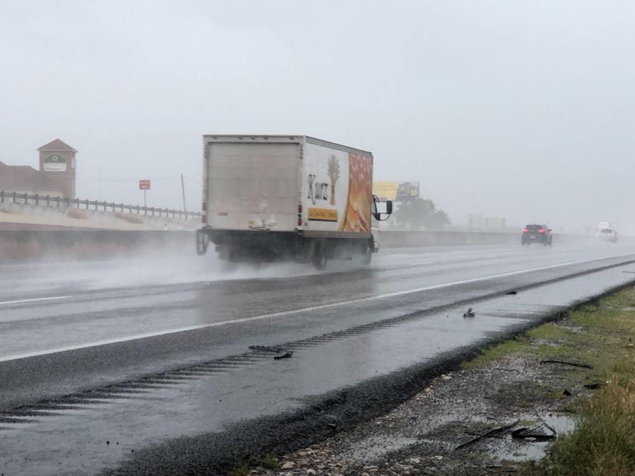 Heavy rain in Kyle I-35