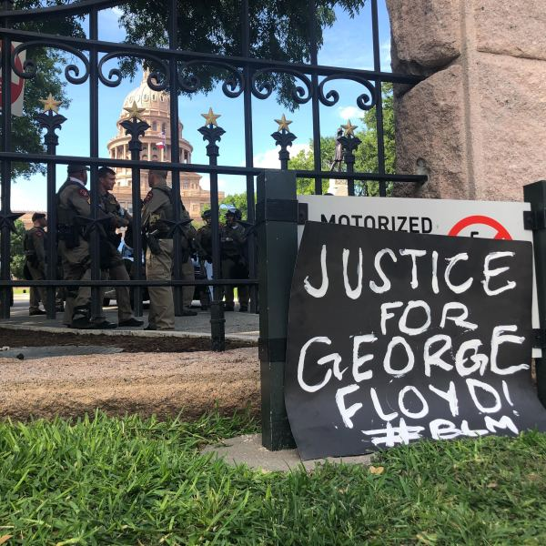 Sign for George Floyd Austin protests