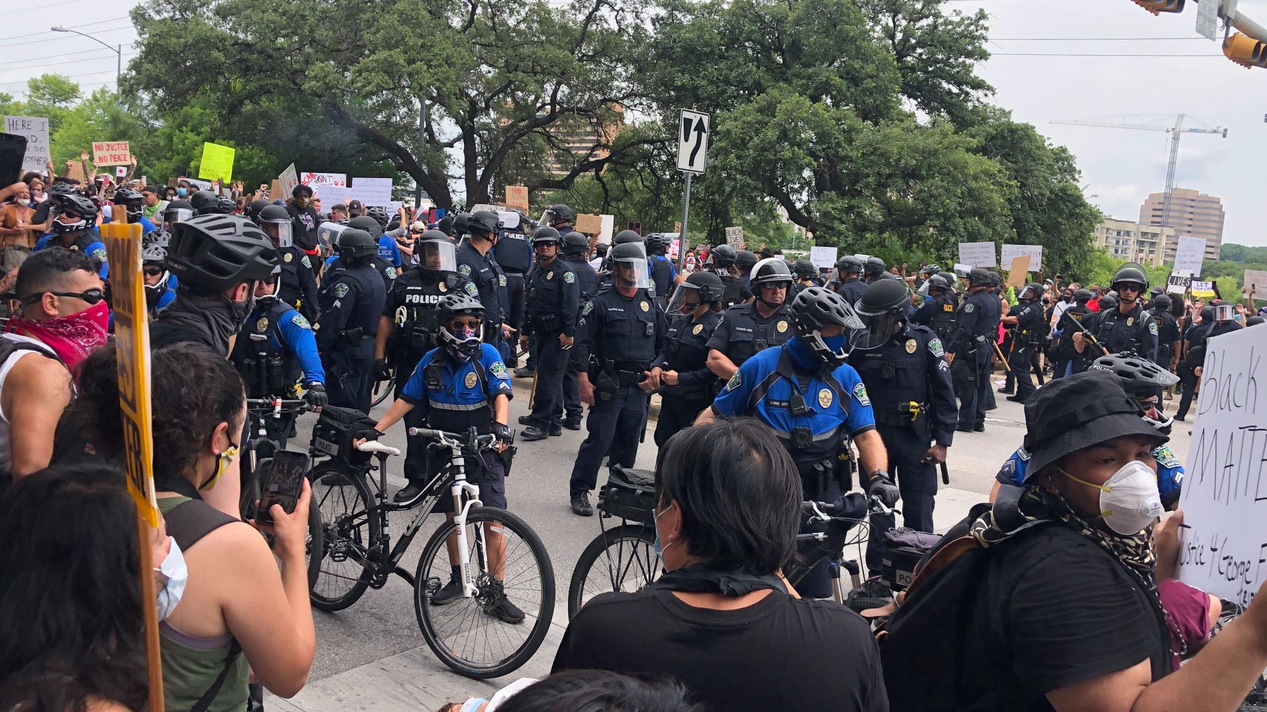 Scene from Austin protests 5-31-20