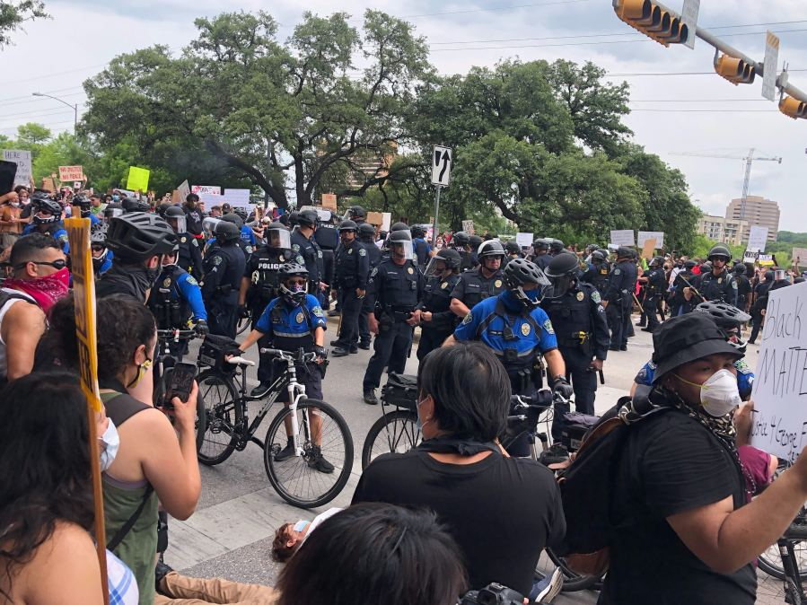 Scene from Austin protests 5-31-20